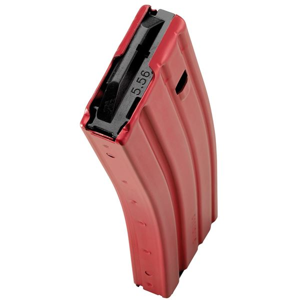 Picture of DURAMAG Speed™ 223 Rem 300 Blk 30 Round AR-15 Style Red Aluminum Magazine Black AGF