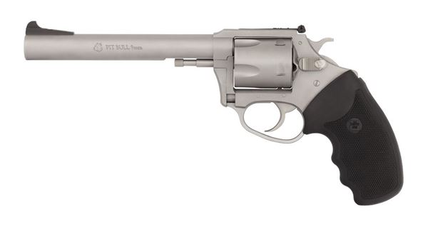 """Picture of Charter Arms Pit Bull® 9mm 5rd 6"""" Barrel Stainless Steel Revolver"""