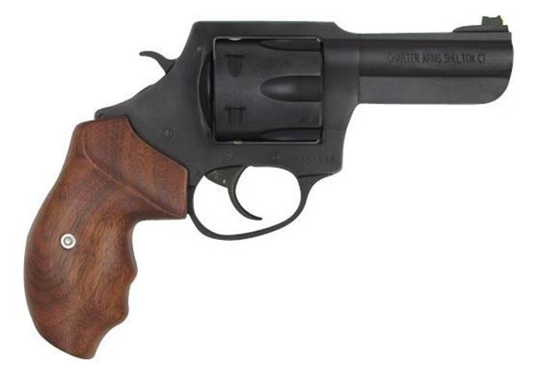 """Picture of Charter Arms The PROFESSIONAL III 357 Mag 6rd 4.2"""" Barrel Blacknitride+ Wooden Grip Revolver"""