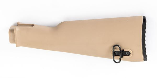 Picture of Arsenal AK47 Desert Sand Polymer Buttstock with Cleaning Kit Compartment for Milled Receivers
