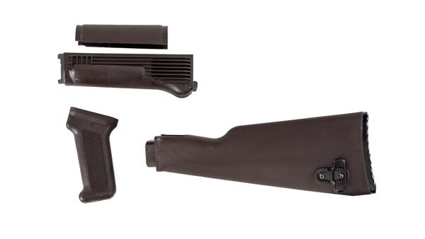 Picture of Arsenal Plum Polymer Stock Set with Stainless Steel Heat Shield for Milled Receivers