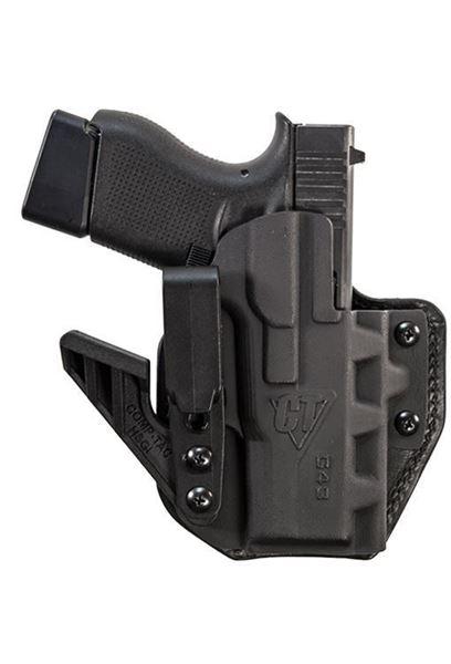 Picture of CompTac eV2 Max Hybrid Appendix IWB Holster - Glock - 26/27/28/33 Gen1,2,3,4 - Right - Black