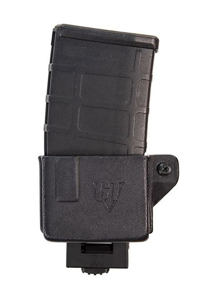 Picture of CompTac AR 308 Mag Pouch with Push Button Lock Mount -Black - LSC (Right Hand Shooter)