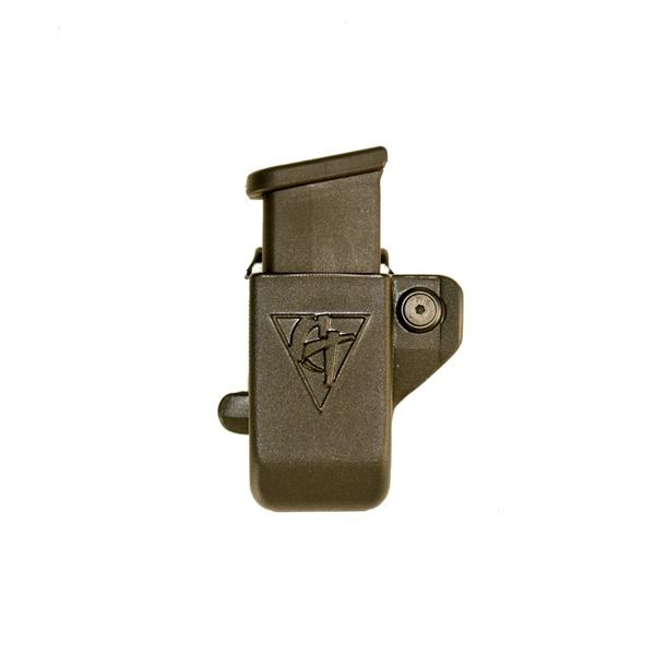 Picture of CompTac Single Mag Pouch OWB Kydex-#43 - Glock 43 - Black - LSC (Right Hand Shooter)