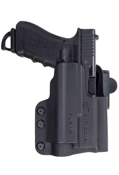 Picture of CompTac International  Light OWB Holster - Glock - 20/21/SF with Streamlight TLR2 - RSC - BK