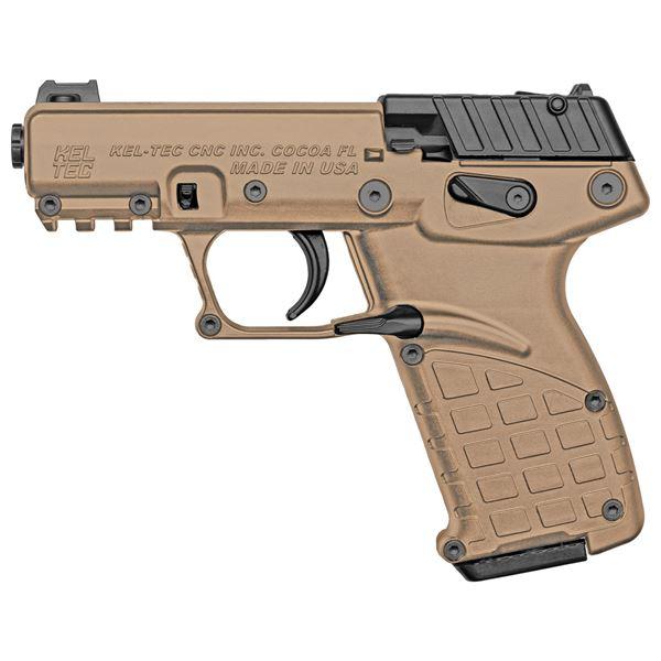 Picture of Kel-Tec P17 Compact 22LR Pistol Threaded Barrel Tan Polymer Frame 16rd