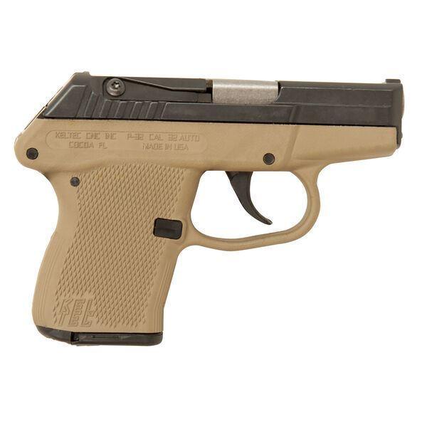 "Picture of Kel-Tec P32 Black/Tan 32 ACP 2.7"" Barrel 7 Round Pistol"