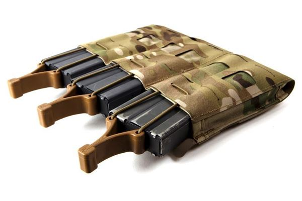 Picture of Blue Force Gear-Mag NOW! Pouch - Triple M4 Mag - Open Top Bungee Retention