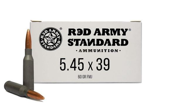 Picture of Red Army Standard 5.45x39mm 60gr Lead Core FMJ Steel Case 1000 Rounds Ammunition