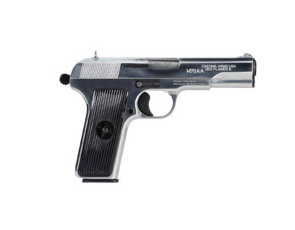 Picture of Zastava M70AA 9mm Semi-Auto Single Action Pistol 9 Round Chrome