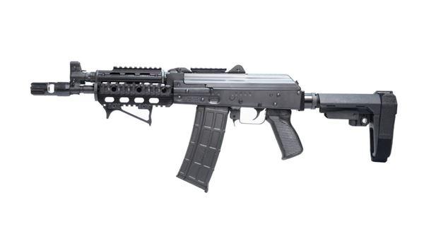 Picture of Zastava ZPAP85 AK47 Style Pistol 5.56 Quad Rail Muzzle Brake SBA3 Brace 30rd Mag