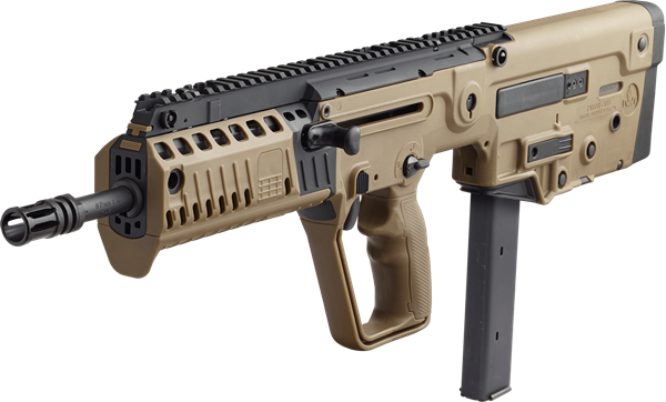 "Picture of IWI TAVOR X95 Bullpup Rifle 9MM Luger 16.5"" Barrel RH 32rd BUIS Flattop Flat Dark Earth"
