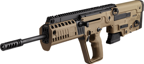 "Picture of IWI TAVOR X95 CA Compliant Bullpup Rifle 5.56 Nato 18"" Barrel RH 10 Round Mag BUIS Flattop Flat Dark Earth"