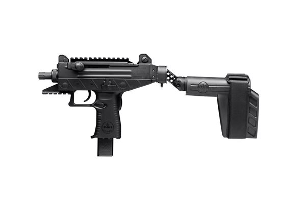 "Picture of IWI UZI PRO 9mm Luger 4.5"" Barrel Adjustable Sight w/ Side Folding Stabilizer Brace 25 Round Pistol"