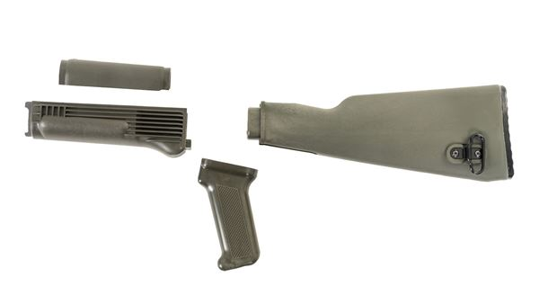 Picture of Arsenal OD Green Polymer Stock Set with Stainless Steel Heat Shield for Milled Receivers