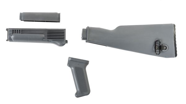 Picture of Arsenal U.S. Made Gray Polymer 4 Piece Stock Set for Milled Receiver AK47