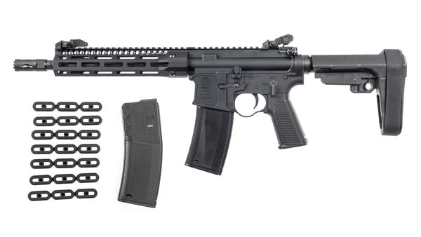 Picture of Troy Industries A4 Pistol 5.56 NATO AR-15 SBA3 Brace 30rd w/ Squid Grip and Magazine Kit