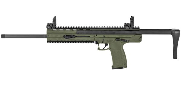 """Picture of CMR-30 .22 WMR Semi Auto Rifle 16"""" Barrel 30 Rounds Collapsible Stock Matte Green Finish"""
